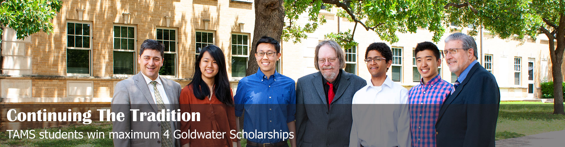 Continuing the tradition: TAMS students win maximum 4 Goldwater Scholarships